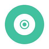 CD glyphs flat circle icon