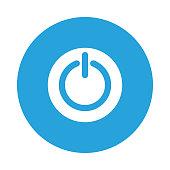 RESTART glyphs flat circle icon