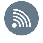 WIFI glyphs flat circle icon
