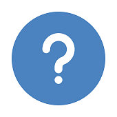QUESTION MARK Glyphs flat circle icons