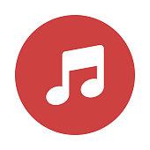 MUSIC Glyphs flat circle icons