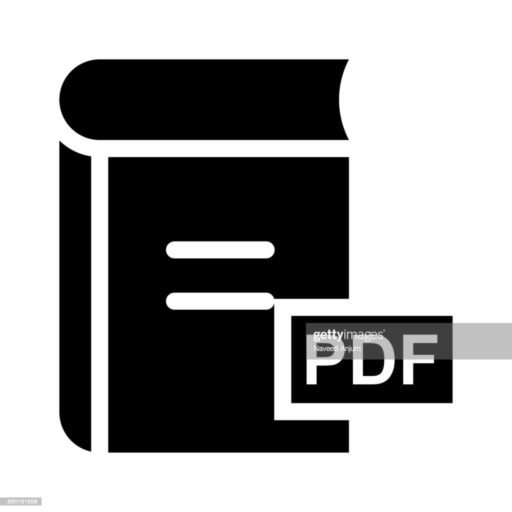 PDF Glyphs Vector Icon