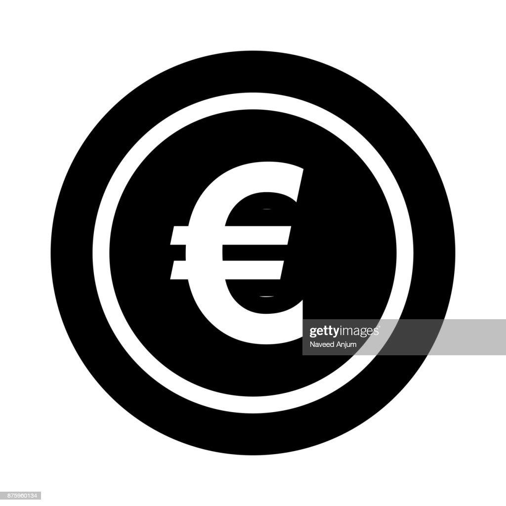 EURO Glyphs Vector Icon