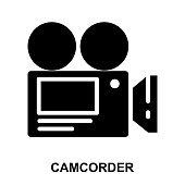 VIDEO CAMERA Glyphs Vector Icons