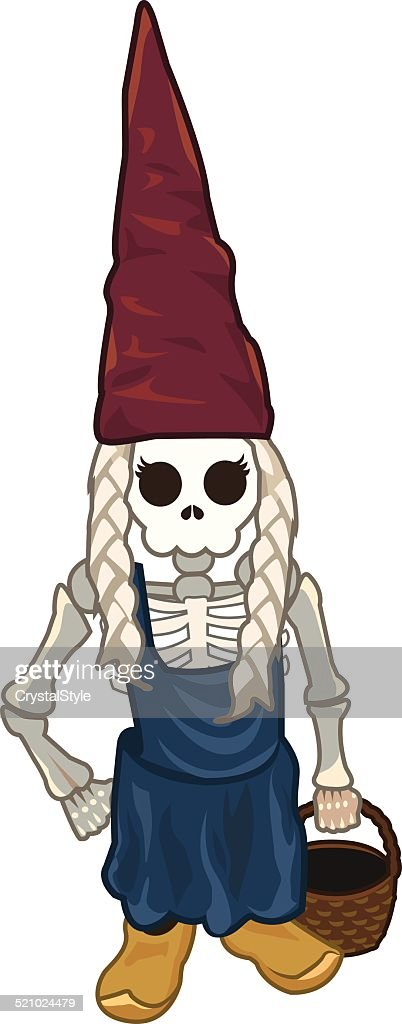 Gnome Girl Spooky - Illustration