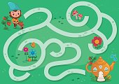 Gnome Maze Game for Children