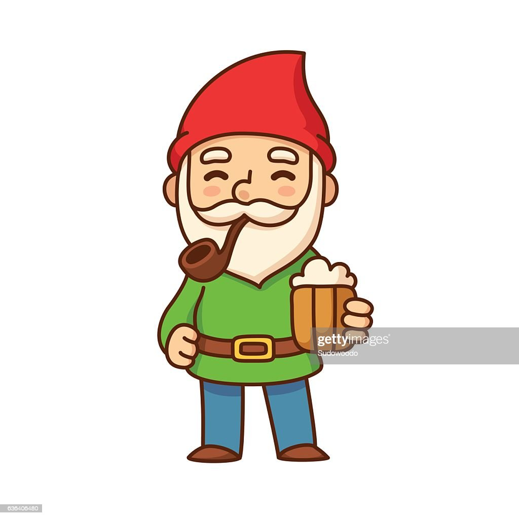Gnome with beer