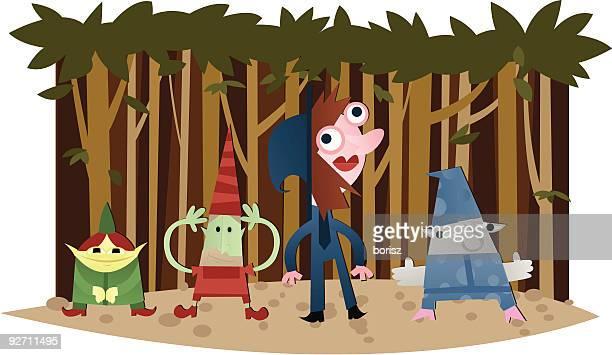 gnomez - gnome stock illustrations