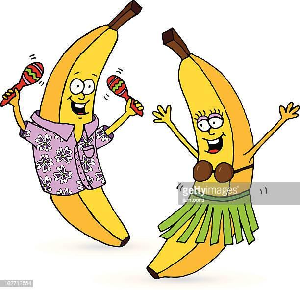 go bananas! - hawaiian shirt stock illustrations