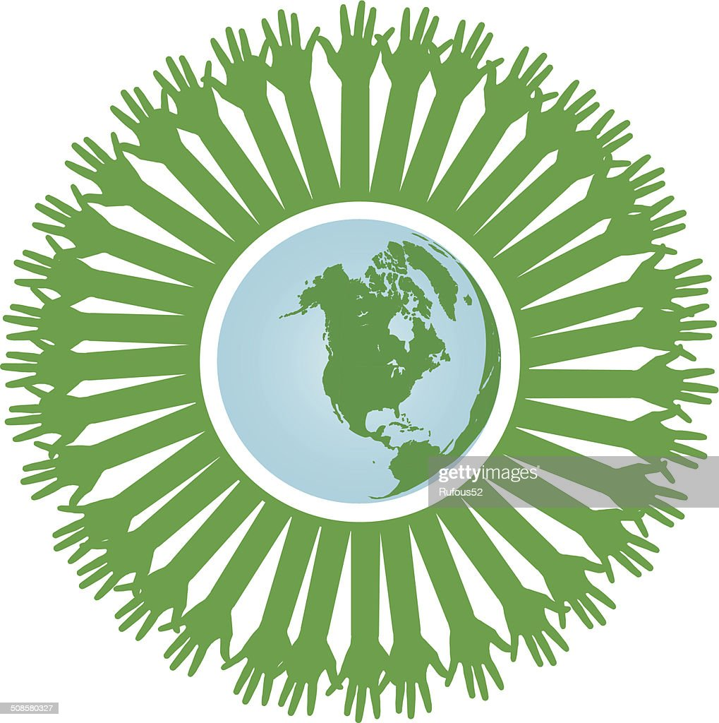 go green concept or save earth concept vector : Vector Art