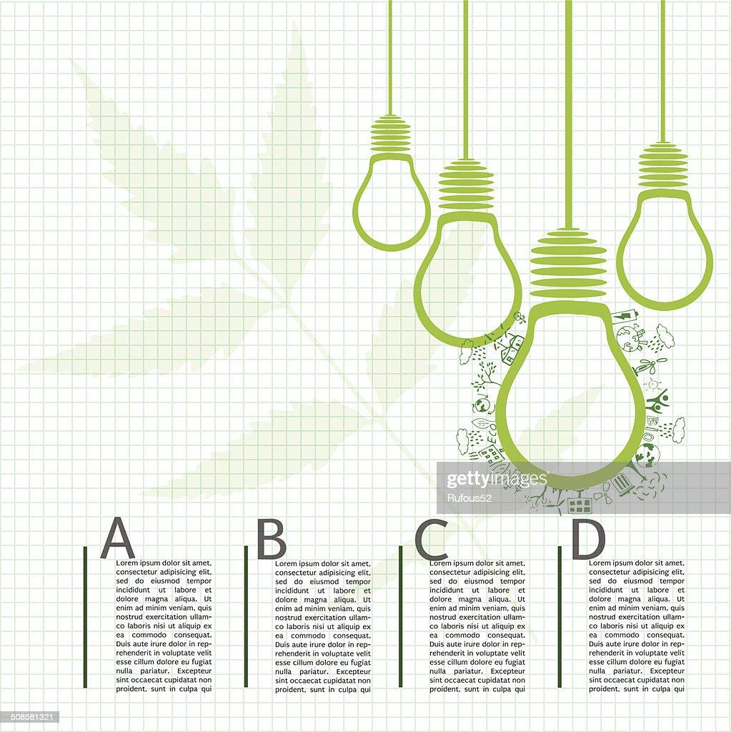 Go green concept. Save world vector Illustration : Vectorkunst