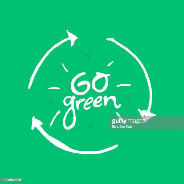 緑の手描きのレタリングを行く。 - 活動家点のイラスト素材/クリップアート素材/マンガ素材/アイコン素材
