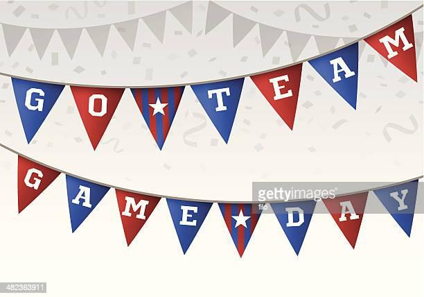 go team game day flag banner - sports team stock illustrations