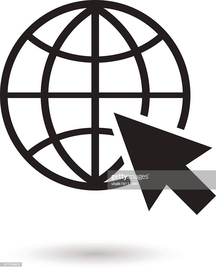 Go to web icon vector illustration