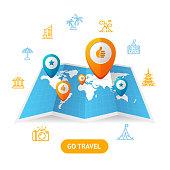 Go Travel Booking Concept. Vector