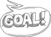 Goal! Celebration Speech Bubble Drawing