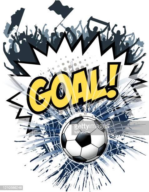 ilustrações, clipart, desenhos animados e ícones de meta explodindo diversão - fazer um gol