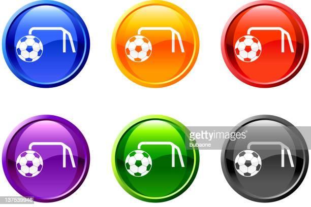 ilustraciones, imágenes clip art, dibujos animados e iconos de stock de objetivo icono en 6 colores contra un fondo blanco. - cancha futbol