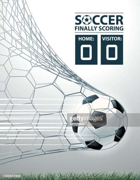 goal illustrations - scoring a goal stock illustrations