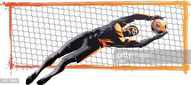 goal keeper - goalkeeper stock illustrations
