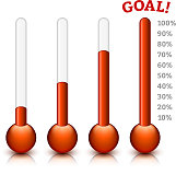 Goal meter Design Concept for Sales or Charity