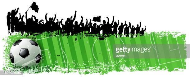 goal season - international soccer event stock illustrations