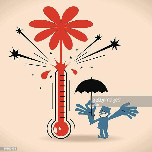 goal thermometer - fahrenheit stock illustrations