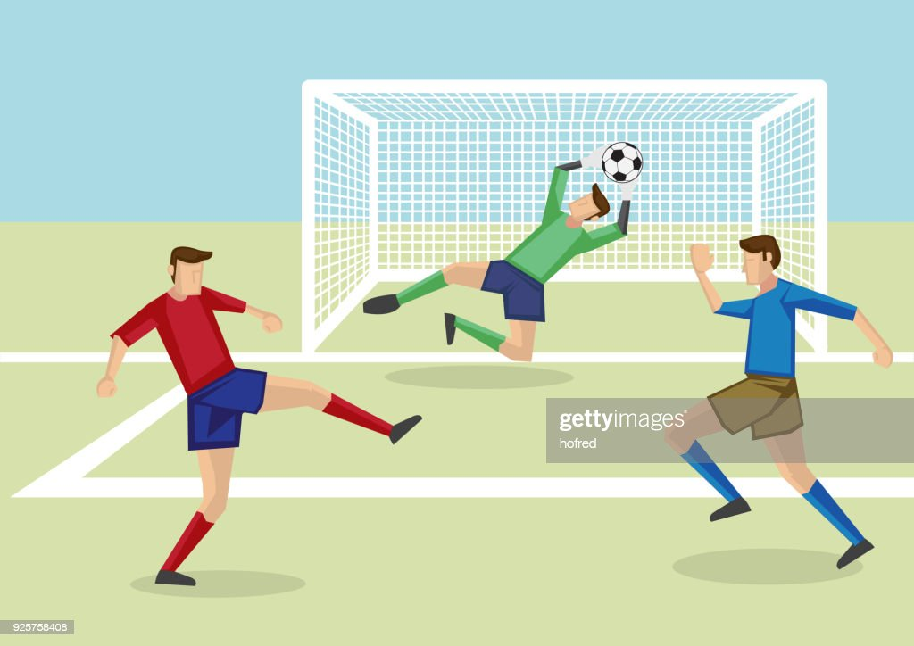 Goalie Saves the Day Vector Illustration