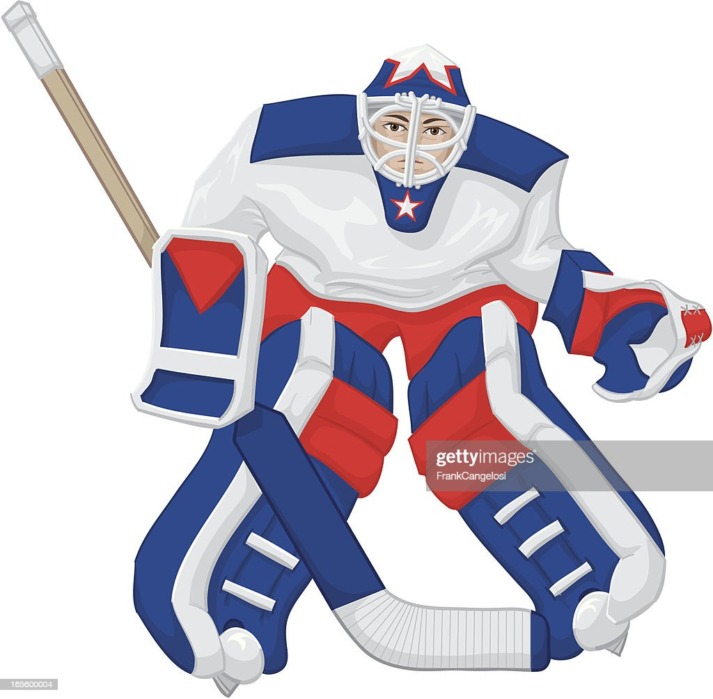 goalie vector art getty images rh gettyimages com hockey goalie helmet clipart hockey goalie stick clipart