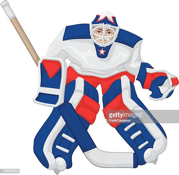 60 Top Goaltender Ice Hockey Player Stock Illustrations Clip Art