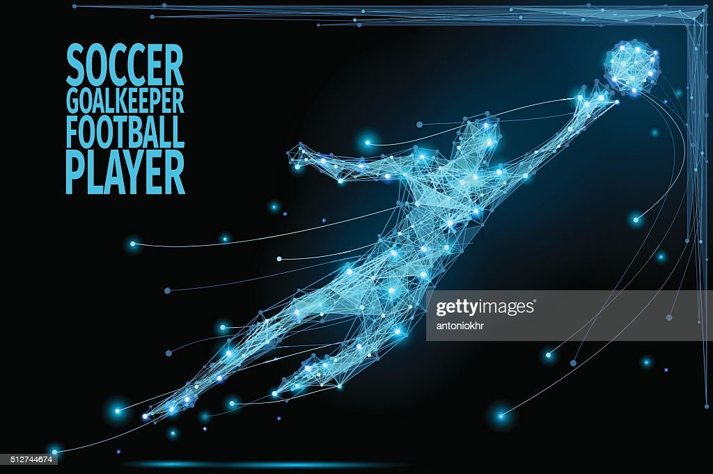 Goalkeeper poly soccer
