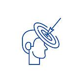 Goalkeeping line icon concept. Goalkeeping flat  vector symbol, sign, outline illustration.
