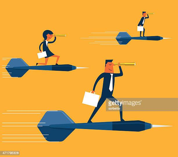 goals of the business - dart stock illustrations, clip art, cartoons, & icons