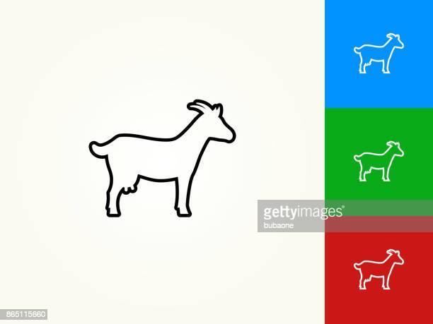 goat black stroke linear icon - goat stock illustrations