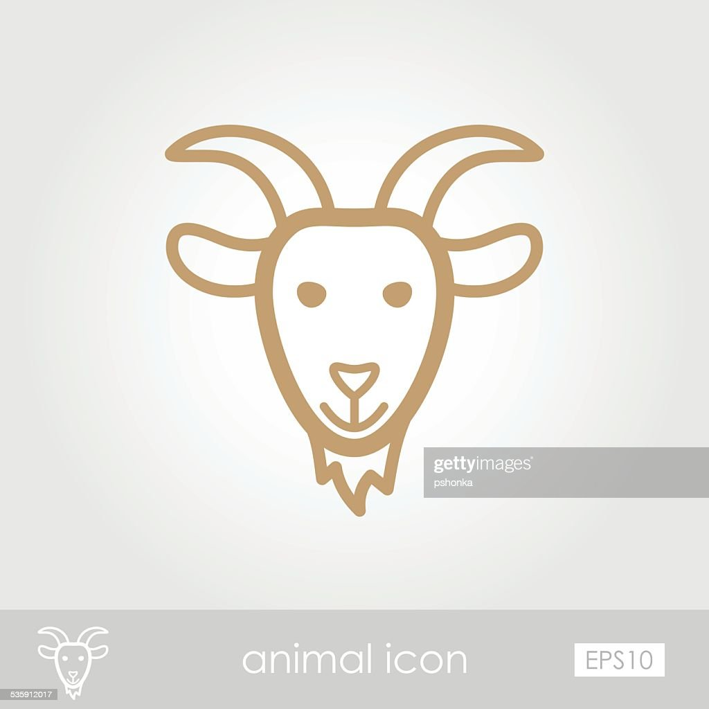 Goat icon : Vector Art