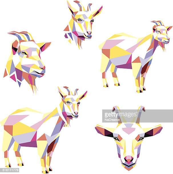 60点のヤギのイラスト素材クリップアート素材マンガ素材アイコン