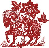 Goat papercut