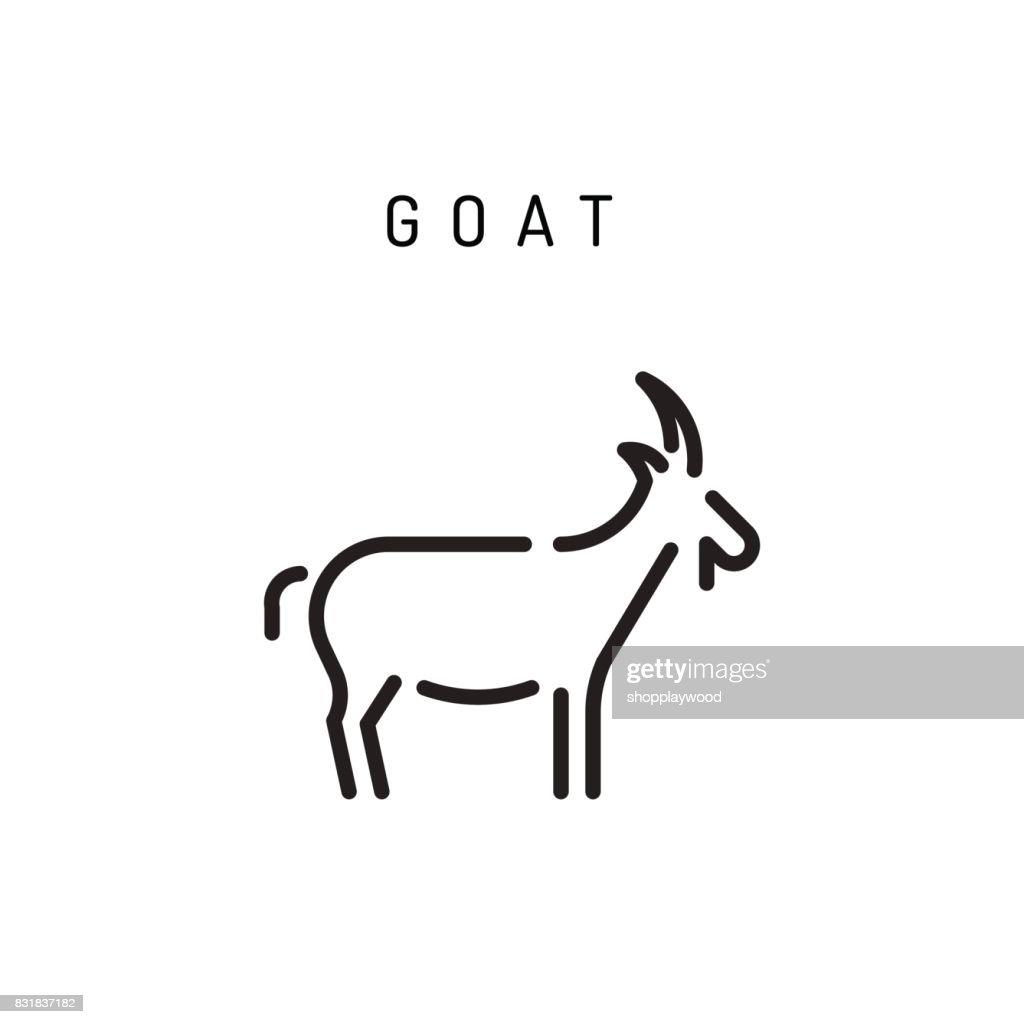 Goat web line icon.