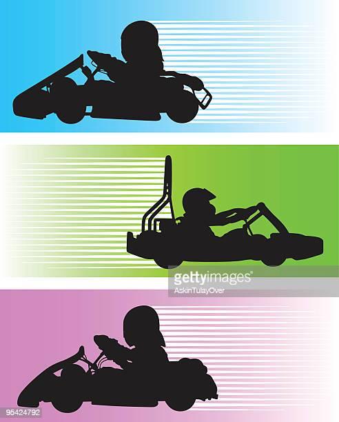 go-cart - go carting stock illustrations, clip art, cartoons, & icons