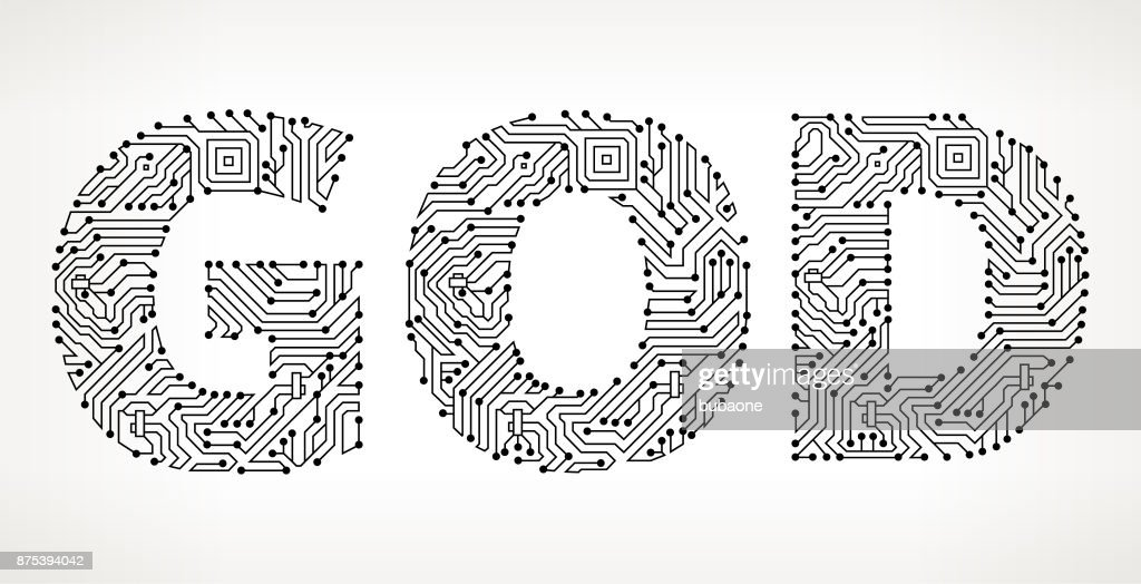 God Circuit Board Vector Buttons Vector Art   Getty Images