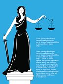 Goddess of justice Themis. Femida vector.