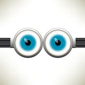 Goggle with Two Blue Eyes