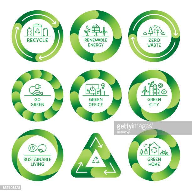 gehendes grün etiketten - recycling stock-grafiken, -clipart, -cartoons und -symbole
