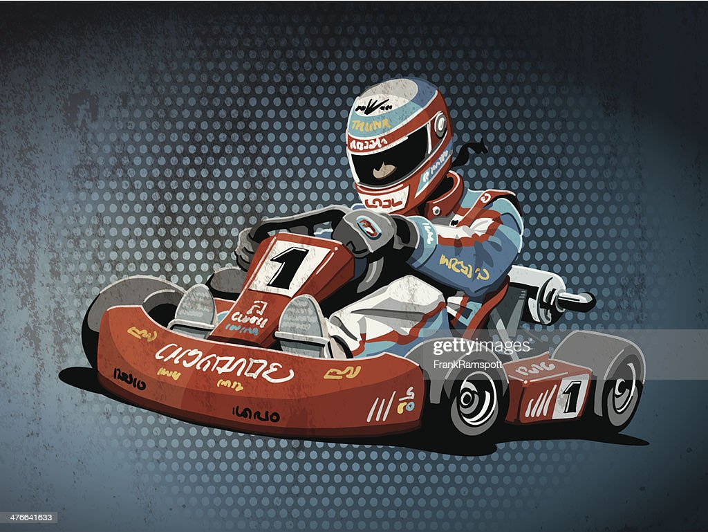 Go-Kart Racing Grunge Color