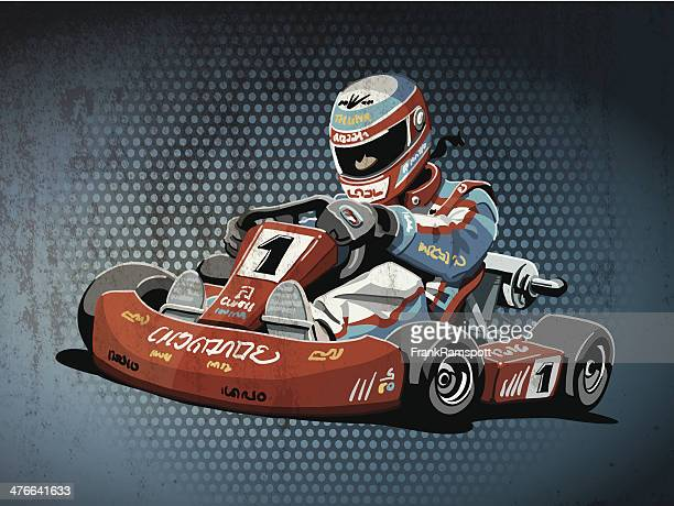 go-kart racing grunge color - go carting stock illustrations, clip art, cartoons, & icons