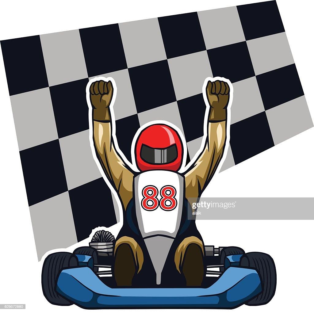 Gokart Winning Racer