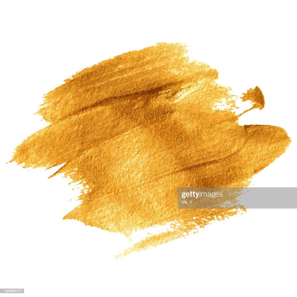 Gold acrylic paint. Vector illustration