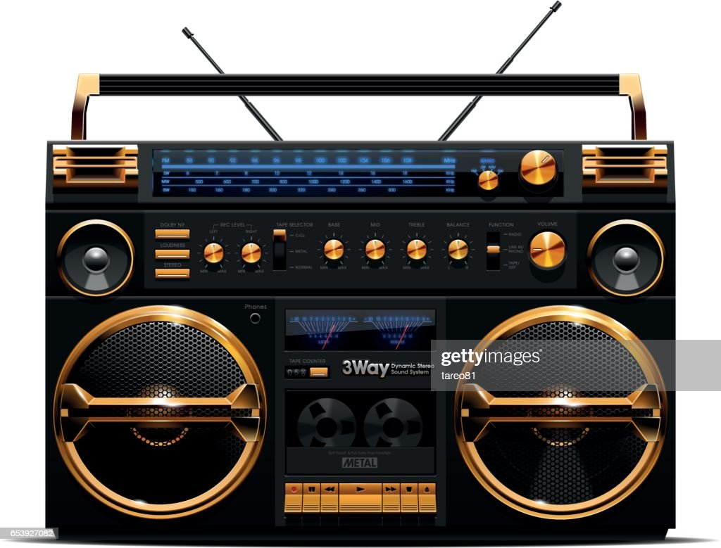 Gold and Black Boombox