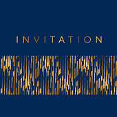 Gold and blue stripes horizontal design element