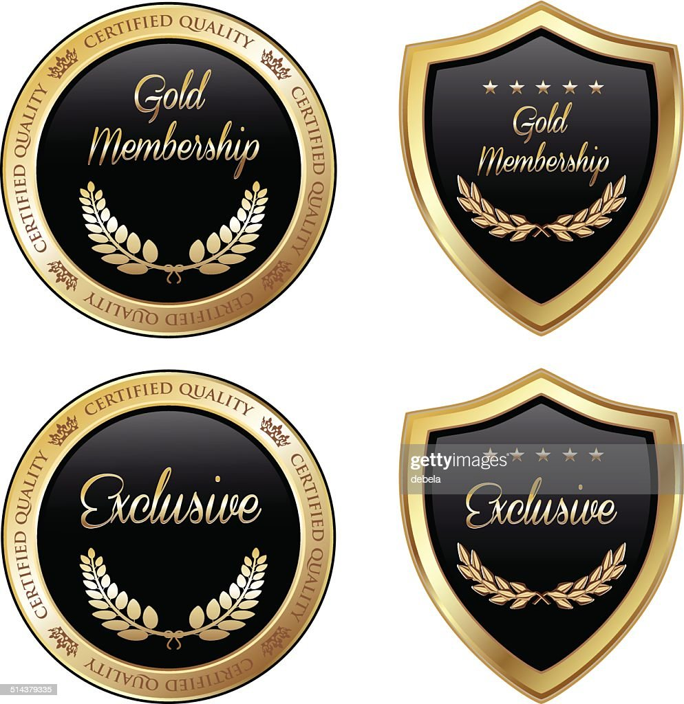 Gold And Exclusive Membership Emblems